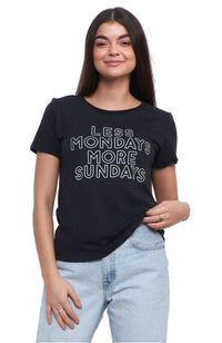 SOCIAL SUNDAY LESS MONDAYS MORE SUNDAYS SHORT SLEEVE TEE SHIRT