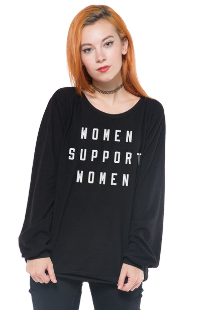 SOCIAL SUNDAY WOMEN SUPPORT WOMEN PULLOVER SWEATSHIRT