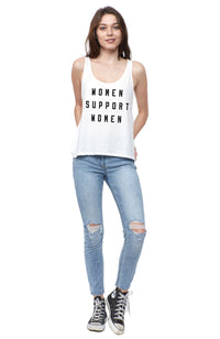 Support Women Scoop Tank
