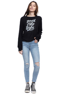 SOCIAL SUNDAY GOOD VIBE TRIBE PULLOVER SWEATSHIRT