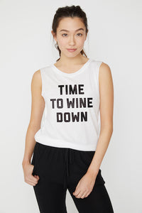Wine Down Muscle Tee
