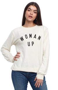 SOCIAL SUNDAY WOMAN UP PULLOVER SWEATSHIRT