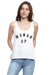 SOCIAL SUNDAY WOMAN UP SCOOP TANK TOP