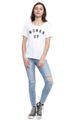 SOCIAL SUNDAY WOMAN UP SHORT SLEEVE TEE SHIRT