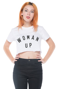 Woman Up Crop Tee