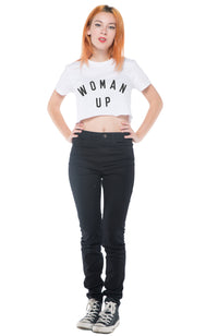 SOCIAL SUNDAY WOMAN UP CROP TEE SHIRT
