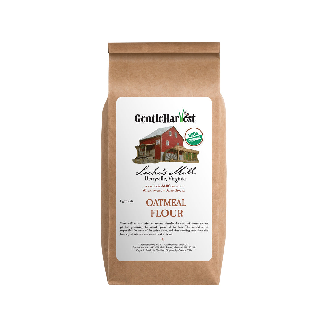 Oatmeal Flour Organic Stone-Milled from Locke's Mill