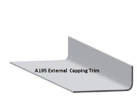 AT195 external trim - High adhesion finish on outer face for step details and cover flashings.   Dimensions:  Girth: 195mm Flange widths: 85 & 105mm