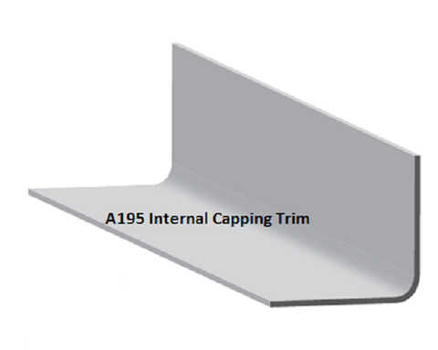 AT195 INT trim.  Used for forming upstands, gutter floors, capping walls and to cover flashings.   AT195 INT: Adhesion on inner face.  Supplied in 3 metre lengths.  Dimensions:  Girth: 195mm  Flange width: 105mm