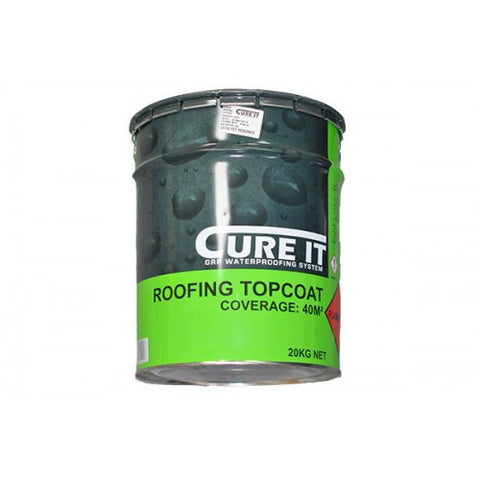 Cure It Graphite Grey Roofing Topcoat Available in 10kg and 20kg Free Delivery(3 to 5 Day delivery Catalyst sold seperate)