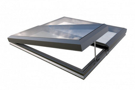 Modular linked glass rooflight (Glass Link) -                 2000 x 2000             - MDM-GL-BU200200PCD-X-FA