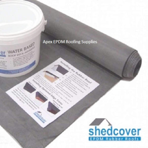 EPDM rubber is the ideal solution to roofing your shed.