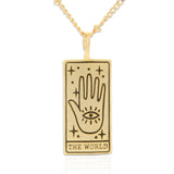 Tarot Card Necklace World, 21