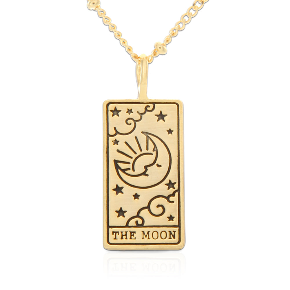 Tarot Card Necklace Moon, 21""