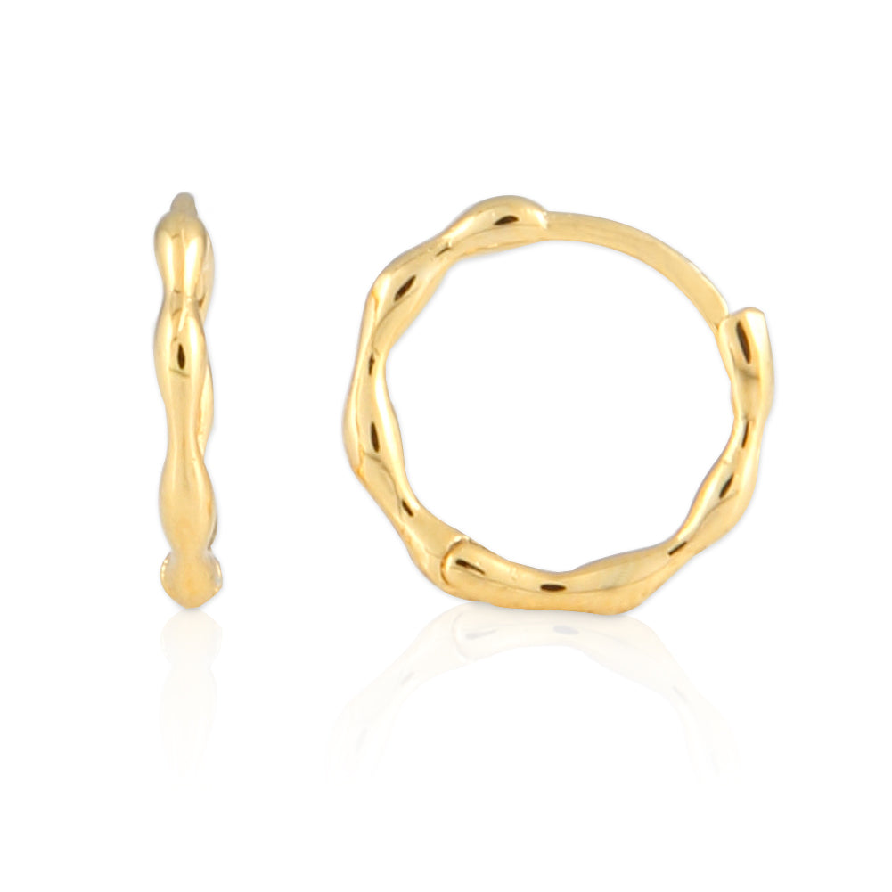 14K Gold Plated Dot Huggie Stud  | Cuff Earrings Small Hoop Earrings for Women