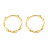 Dot Huggie Small Hoop Earrings 14K Gold Plated