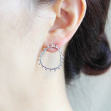 Tribal Shape Round Earrings