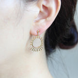 Geometric Shape Tribe Design Earrings