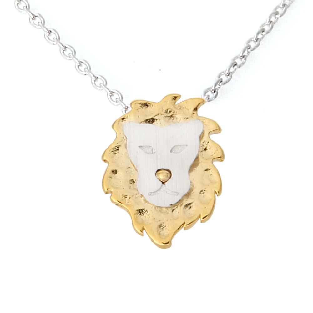 2 Tone Lion Necklace