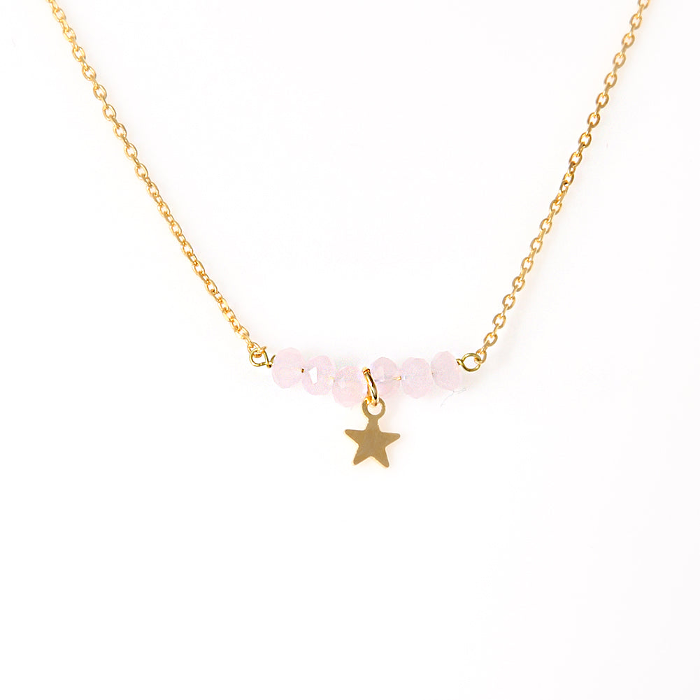 Faceted beads and little star necklace