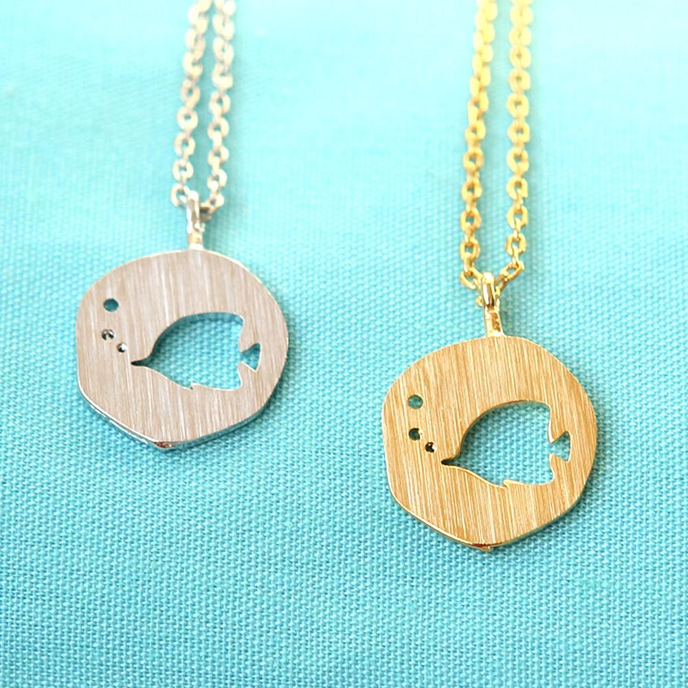 Cutout Tropical Fish Necklace