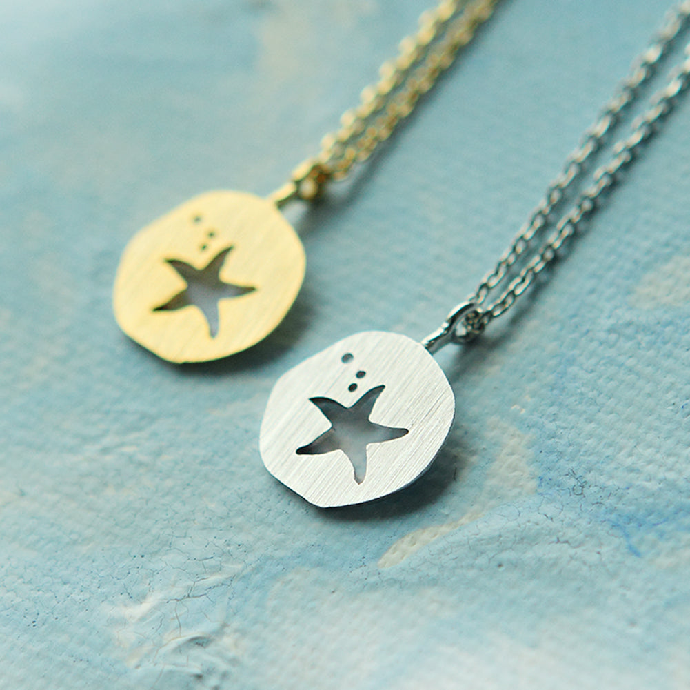 Cutout Starfish Necklace