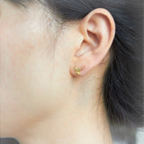 Tiny Ginkgo leaf Earrings