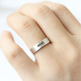 Vertical King and Queen Ring in sterling silver, Couples Ring-Custom Personalized Initial Ring