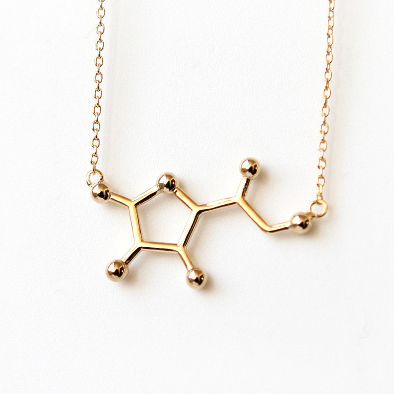 Vitamin C Molecule Necklace