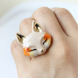 Fox Face Ring