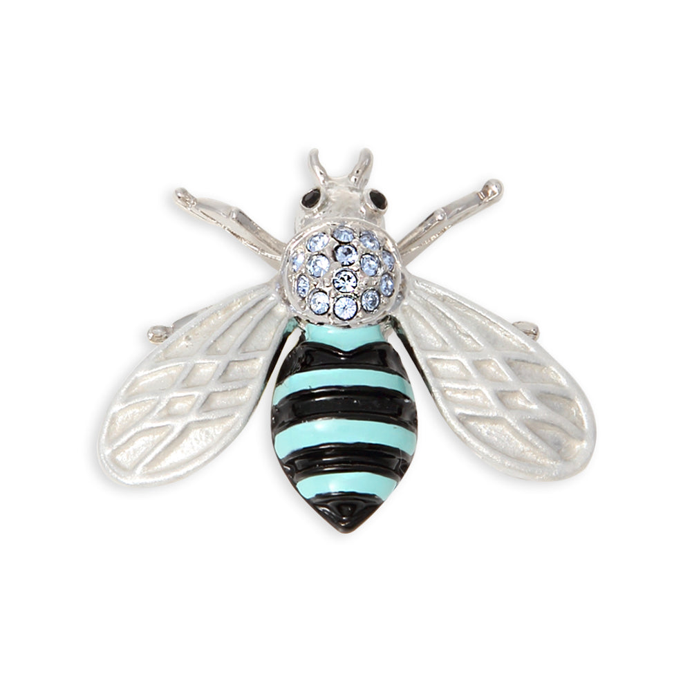 Cute Honeybee Bee Brooch Pin Rhinestone Crystals