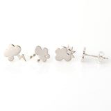 Clouds Studs Set of 4 Earrings