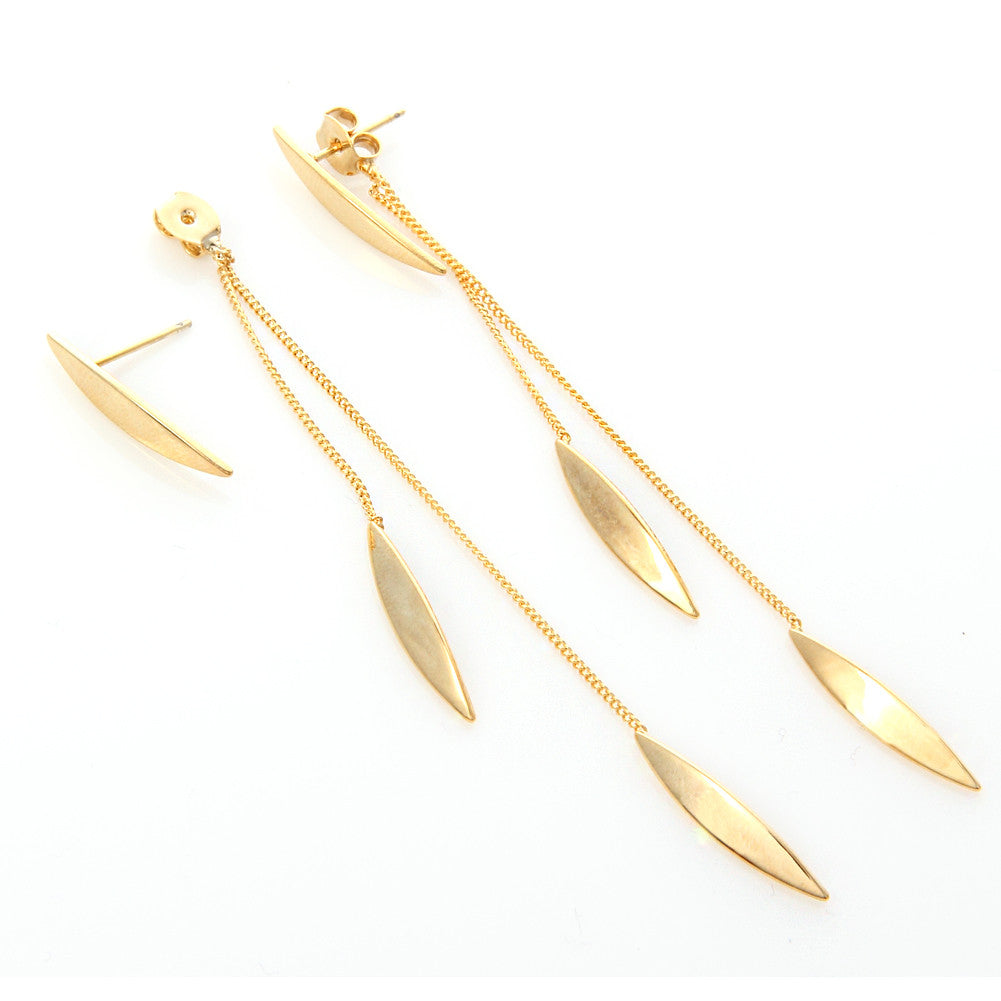 Geometric Shape String Drop Earrings