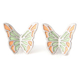 Epoxy Multicolor Butterfly Earrings