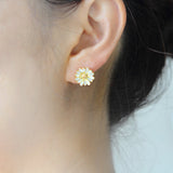 Epoxy Ladybug Daisy Clover Earrings Set of 3