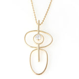 Irregular Circles Pendant Necklace