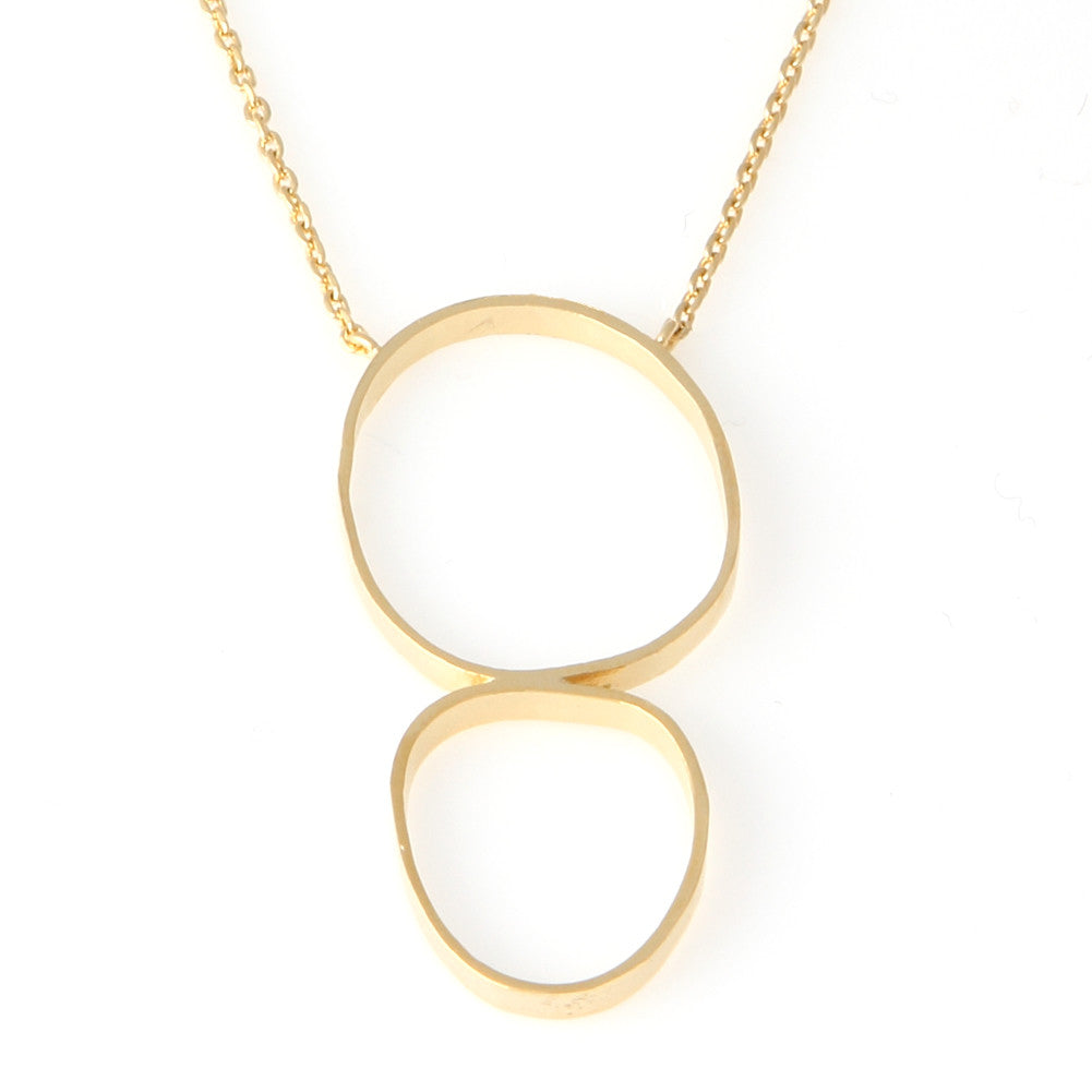 Brushed Circles Pendant Necklace