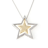 2 Tone Stars Necklace