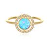 Created Opal Gold Plated Ring