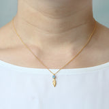 Opal Feather Necklace