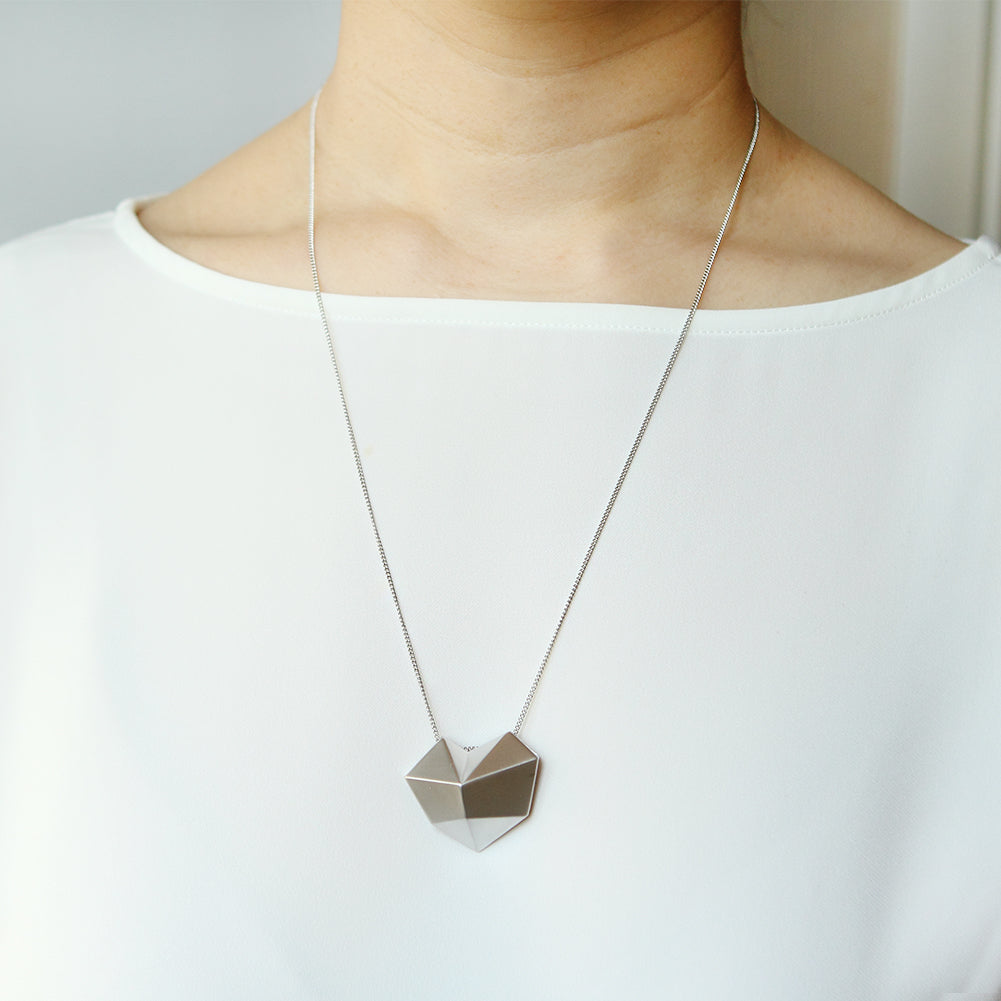 3D Big Heart Necklace