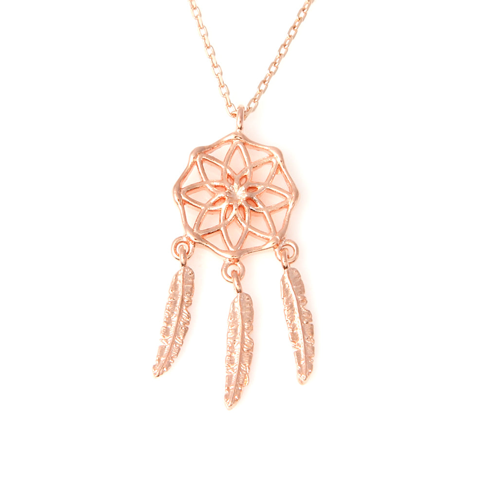 925 Sterling Silver Dreamcatcher Necklace