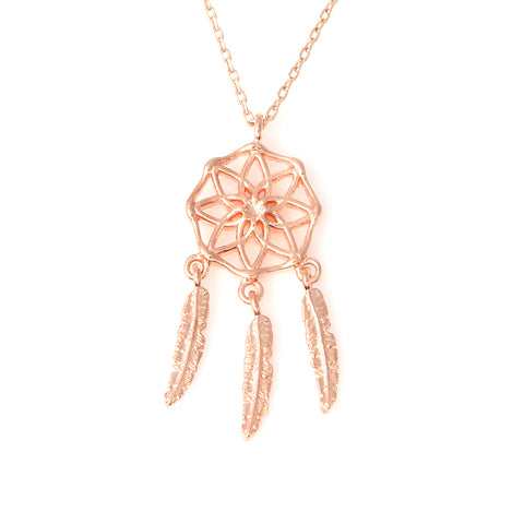 Cut Out Flower Long Necklace