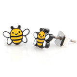 Honeybee_Tiny Black Coated earrings for Girls
