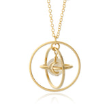 Circle Planet Necklace Moon and Star Saturn, 20