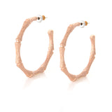 Bamboo Round Hoop Earrings