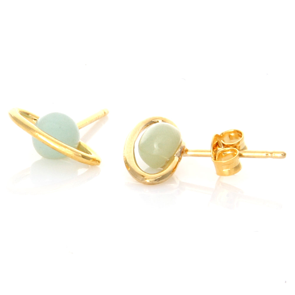 Mini Stone Planet Earrings