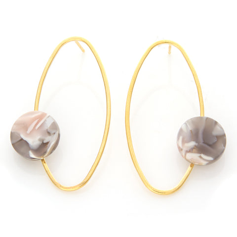 Linked Circles and Bar Earrings