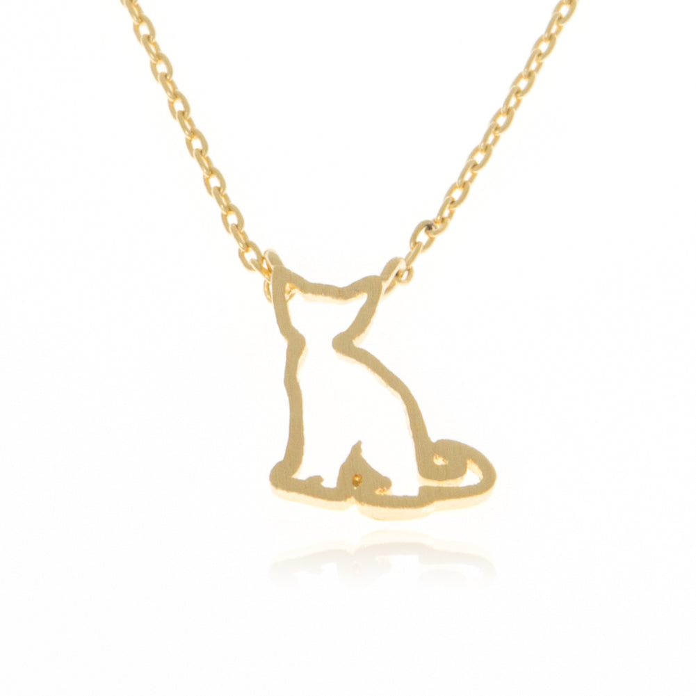 Cutout Cat Necklace