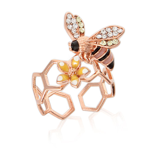 Epoxy Multicolor Butterfly Ring Adjustable Size